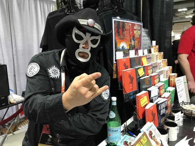 The mysterious El Cuchillo at the CHP table - Calgary Expo 2018